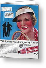 Toothpaste Ad, 1932 Greeting Card by Granger