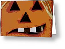 Toothy Pumpkin Greeting Card
