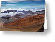 Top Of Haleakala Crater Greeting Card