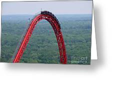Top Of Intimidator 305 Rollercoaster Greeting Card