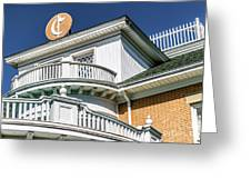 Top Of Large Residence In Marion 7986t Greeting Card