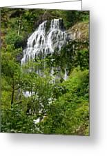 Top Of Munson Creek Falls Greeting Card