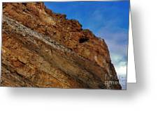 Top Of The Cliff Greeting Card