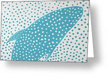 Top Of The Dotted Whale Greeting Card by Deborah Boyd