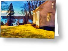 Top Of The Hill, Friendship, Maine Greeting Card