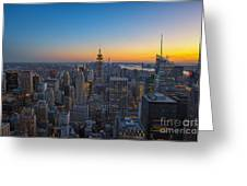 Top Of The Rock At Sunset Greeting Card