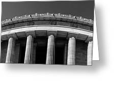 Top Portion Of A Lincoln Memorial Old Greek Architecture Greeting Card