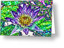 Top View Of A Beautiful Purple Lotus Greeting Card