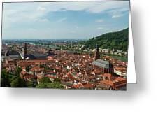 Top View Of Heidelberg, Germany. Greeting Card
