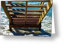 Topsail Island Ocean Steps Greeting Card