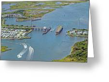 Topsail Island Top Of The Hour Greeting Card