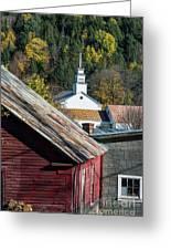Topsham Village Vermont Greeting Card
