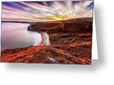 Tor Bay Sunset Greeting Card