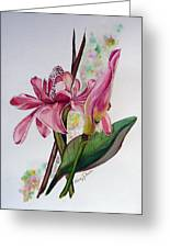 Torch Ginger  Lily Greeting Card by Karin  Dawn Kelshall- Best