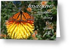 Torch Lily And Monarch Greeting Card