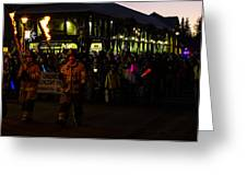 Torchlight Parade Greeting Card