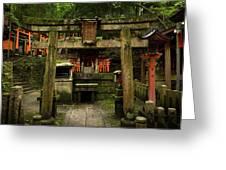 Toriis At Inari Greeting Card