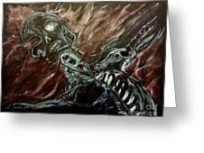 Tormented Soul Greeting Card