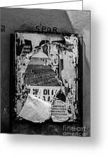 Torn Posters Rome Italy Greeting Card