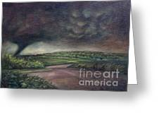 Millsfield Tennessee Tornado From My Backdoor Greeting Card