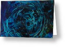 Tornado In Blue Greeting Card