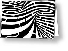 Tornado Maze Greeting Card