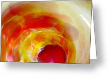 Tornado Of Color Greeting Card