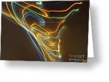 Tornado Of Lights. Dancing Lights Series Greeting Card