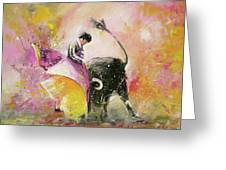 Toro Tenderness Greeting Card