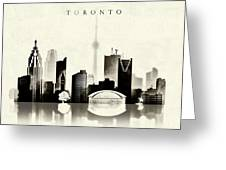 Toronto Black And White Greeting Card