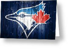 Toronto Blue Jays Barn Door Greeting Card