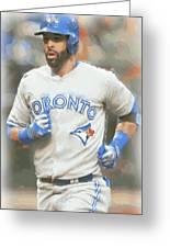 Toronto Blue Jays Jose Bautista Greeting Card