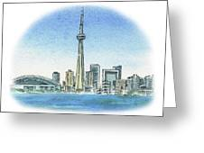 Toronto Canada City Skyline Greeting Card