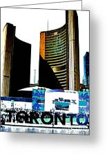 Toronto City Hall Graphic Poster Greeting Card