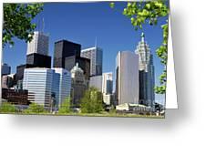 Toronto Downtown Skyline Greeting Card