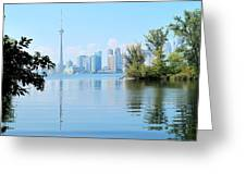 Toronto From The Islands Park Greeting Card
