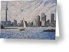Toronto Harbor East Gap Greeting Card