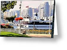 Toronto Island Ferry Arrives Greeting Card