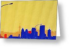 Toronto Lemon Skyline Greeting Card