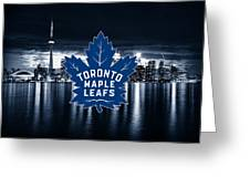 Toronto Maple Leafs Nhl Hockey Greeting Card