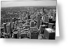 Toronto Ontario Scrapers In Black And White Greeting Card
