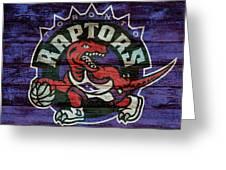 Toronto Raptors Barn Door Greeting Card