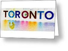 Toronto Sign In Muted Colours Greeting Card