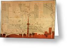 Toronto Skyline 36 Greeting Card