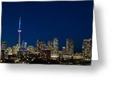 Toronto Skyline And World Pride Greeting Card