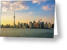 Toronto Skyline At Sunset Greeting Card