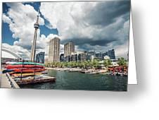 Toronto - Skyline / Harbourfront Greeting Card