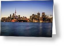 Toronto Sundown Greeting Card