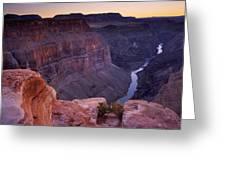 Toroweap Overlook Sunset Greeting Card