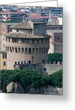 Torre San Giovanni St Johns Tower On The Ramparts Of The Walls Of The Vatican City Rome Greeting Card